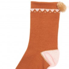 Emile et Ida Triangle Socks with Pompom-listing