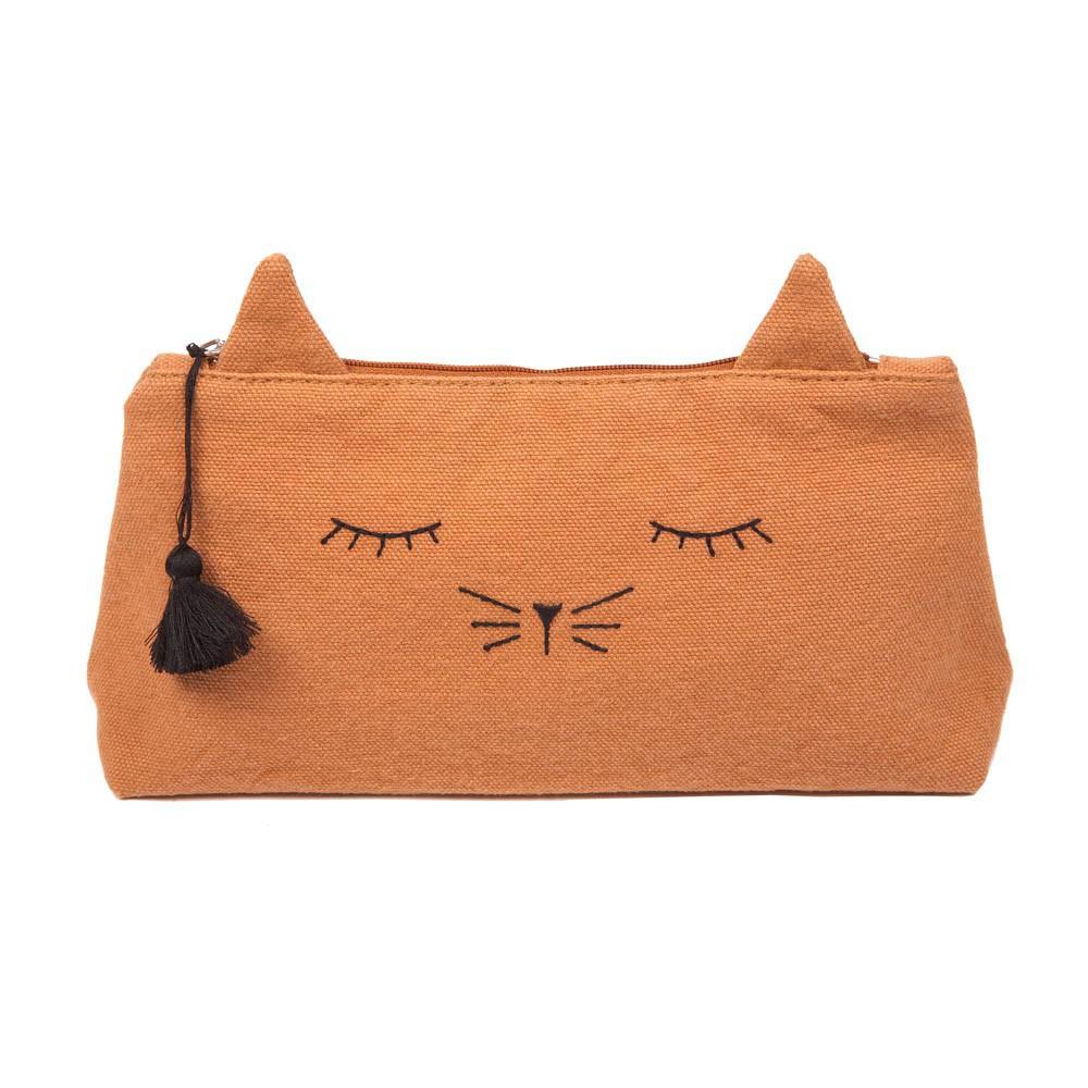 Canvas Cat Mine Pencil Case-product