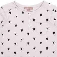 Emile et Ida Teeth Henley Neck Shirt-listing