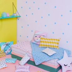"Rose in April Gestreiftes Kissen ""Sweet dreams"" 30x20 cm-product"