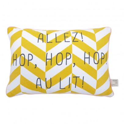 """Rose in April Gestreiftes Kissen  """"Allez, hop hop hop au lit"""" 30x20 cm-product"""