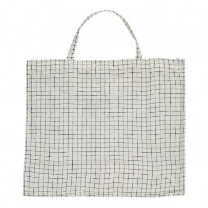 Linge Particulier Bolso gigante lino lavado Cuadros blanco y negro-listing