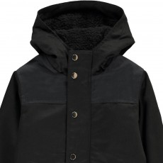 Zef Two-Tone Fur-Lined Jack Down Jacket-listing