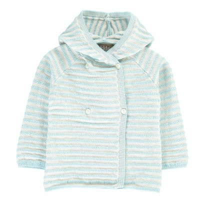 Kidscase Striped Knitted Joy Cardigan with Hood-listing
