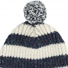 Kidscase Striped Nat Beanie with Pompom-listing