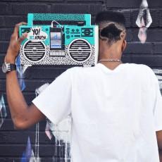 Berlin Boombox Altavoz Ghetto blaster 3.0 con puerto USB Yo! MTV rap oldschool-listing
