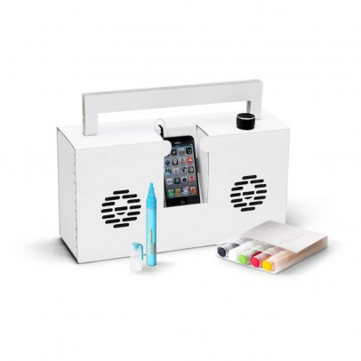 Berlin Boombox Montana Ghetto Blaster 3.0 Speaker with USB port. Includes 6 markers-listing