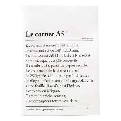 Be Poles Carnet A5-listing