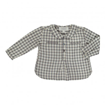 Bonnet à pompon Checked Kurta Shirt-listing