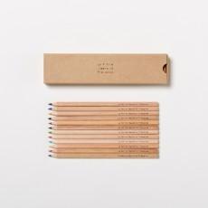 La Petite Papeterie Française Boîte de 12 crayons de couleurs-listing