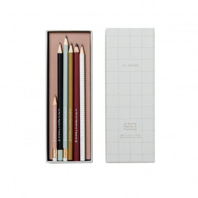 La Petite Papeterie Française Set of 6 Assorted Drawing Pencils-listing