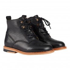 Young Soles Bottines Cuir Zippées Bout Fleuri Buster-listing