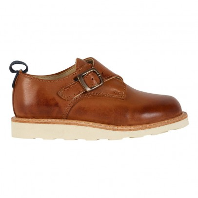 Young Soles Charlie Leather Buckled Derby Shoes-listing