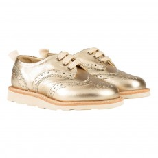 Young Soles Brando Floral Tipped Leather Iridescent Derby Shoes-listing