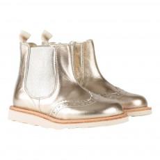 Young Soles Boots Chelsea Cuir Zippées Bout Fleuri Francis-listing