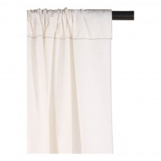 Smallable Home Cotton and silver lurex braid lined curtains-listing
