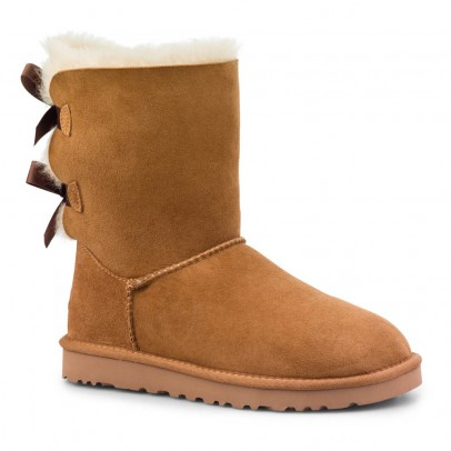 Ugg Gefütterte Wildleder-Stiefel mit Schleifen Bailey Bow-listing