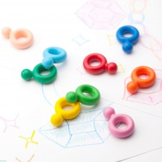 Primomo Washable Crayon Rings - Set of 6-listing
