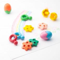 Primomo Crayons de couleur effaçables œuf - Set de 6-listing