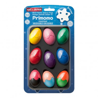 Primomo Crayons de couleur effaçables œuf - Set de 9-listing