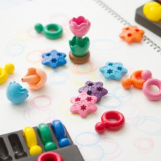 Primomo Washable Crayon Flowers - Set of 6-listing