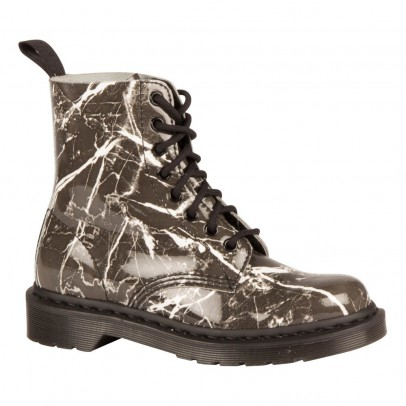 Dr Martens Pascal Marble Effect Patent Leather Boots-listing