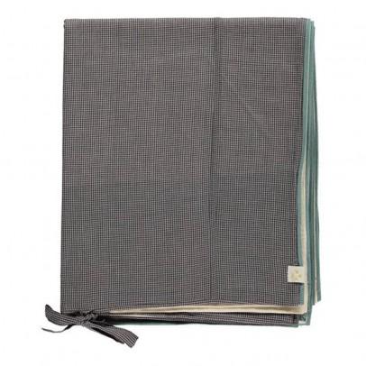 Camomile London Housse de couette à petits carreaux 140x200 cm-listing