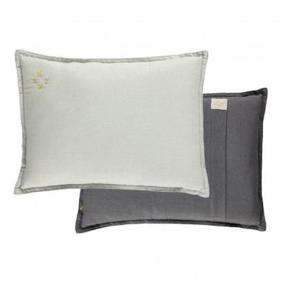 Camomile London Coussin garni uni et verso gris anthracite 22x30 cm-listing
