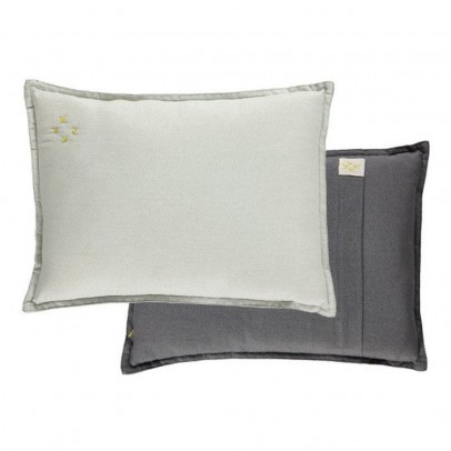 Camomile London Gray Printed Cushion 22x30cm -listing