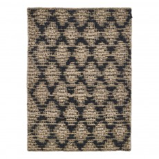 product-House Doctor Tapis Harlequin noir et naturel
