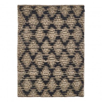 House Doctor Tapis Harlequin noir et naturel-product