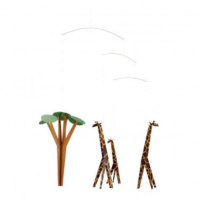 Flensted Móvil jirafas en la sabana-listing