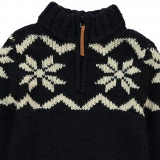 AO76 Jaquard High Neck Jumper with Zip-listing
