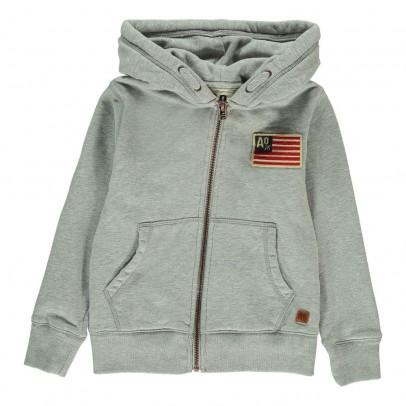AO76 Hooded American Flag Sweatshirt with Zip-listing