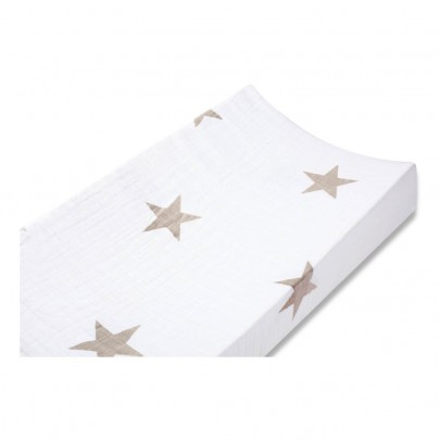aden + anais  Changing Mat Cover - Taupe Star-listing