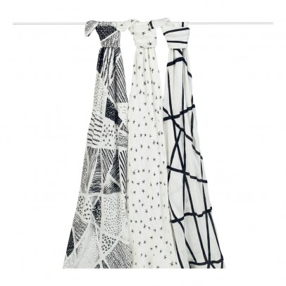 aden + anais  Bambou Grapgic Swaddling Cloths 120x120cm - Pack of 3-listing