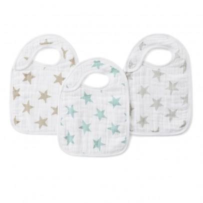 aden + anais  Bavoirs étoiles pastel - Pack de 3-listing