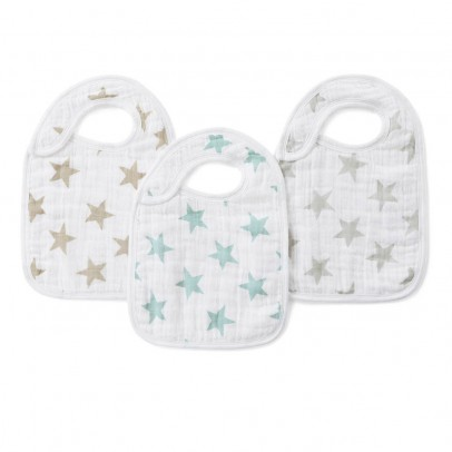 aden + anais  Pastel Star Bibs - Pack of 3-listing