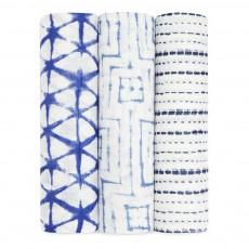 aden + anais  Mantitas 120x120 cn bambú tinta - Pack de 3-listing