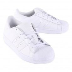 Adidas Leather Elastic Lace Superstar Trainers-listing