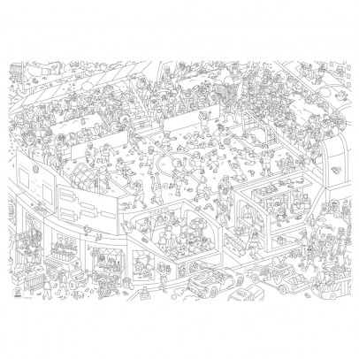 Omy Foot Giant Colouring Poster-listing