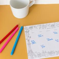 Omy Calendario Settimanale a colorare-listing