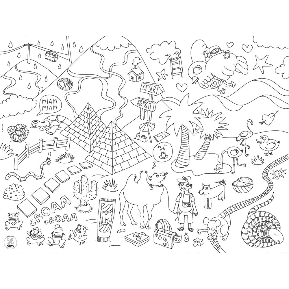 Omy Set de table à colorier Fantastic-product