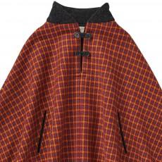 Caramel Baby & Child Citrine Check Wool Cloak-listing