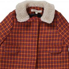 Caramel Baby & Child Larimar Fur Collar Coat-listing