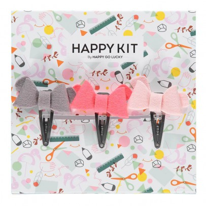 Happy Go Lucky Kit Crée tes barrettes roses-listing