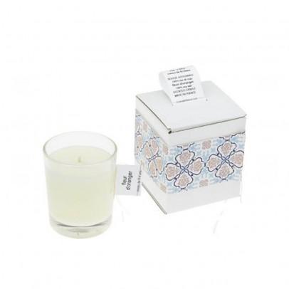 Cousu de fil blanc Kerze Orangenblüte-listing
