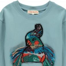 ANNE KURRIS Embroidered Zip-Up Bird Sweatshirt-listing