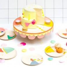 Engel Bamboo Patterned Dessert Plates - Set of 6-listing