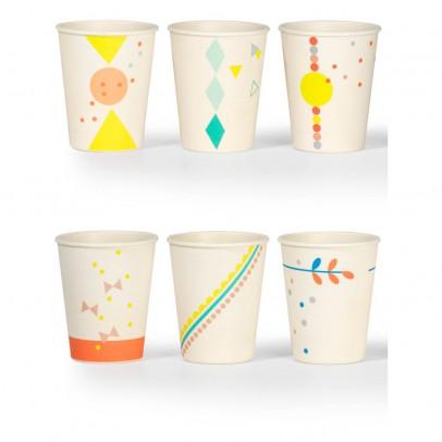 Engel Bamboo Printed Glasses - Set of 6-listing